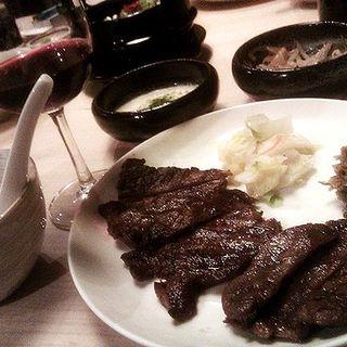 牛たんの定食(炭焼牛たん東山 ソラリアプラザ店)