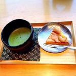 然カステラとお抹茶のセット(抄花然院)