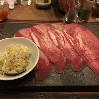 ネギ塩牛タン(焼肉おしわら)