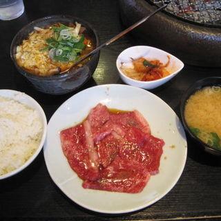 カルビ定食(こだわり)+カルビうどんハーフ