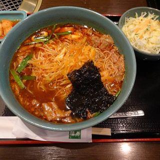 カルビラーメンセット(焼肉名菜 福寿 武蔵小杉店 (フクジュ))