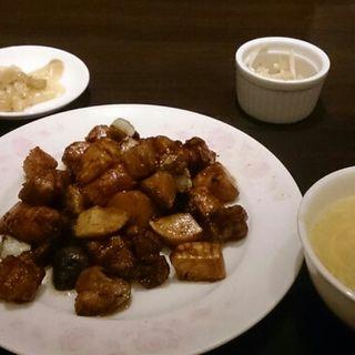鶏肉の甘味噌炒め定食(煌蘭 横浜店 )