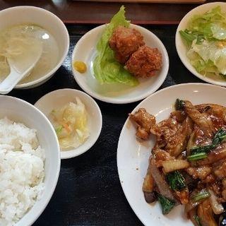 豚バラ肉とナスの味噌炒め(熊猫 (パンダ))