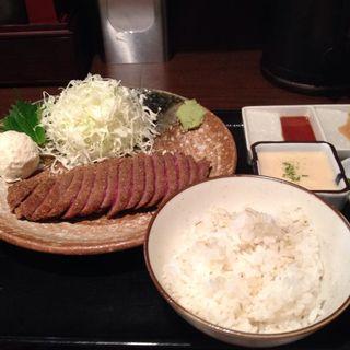 牛カツセット(牛かつ もと村 渋谷店 )