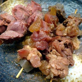 牛スジと砂肝(牛と豚)
