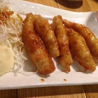 鶏皮餃子(玉宮鶏白湯)