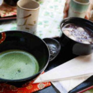 白玉ぜんざいと抹茶のセット