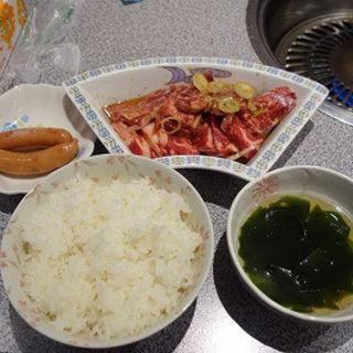 牛カルビ・ハラミ200g定食(生麦焼肉 京城苑 )