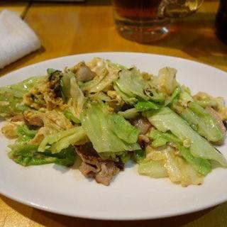 豚肉と玉子きゃべつ炒め(田むら屋)