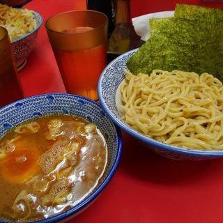 小ラーメン(ニンニク、ヤサイ)+つけ麺(田田 )