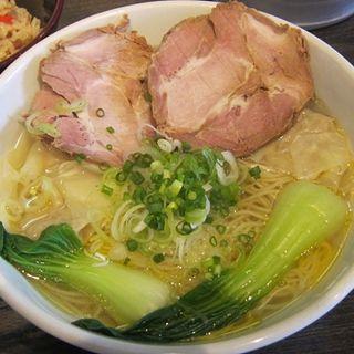 ねぎまみれ(鶏がら・グリーン麺)(盛壱 (モリイチ))