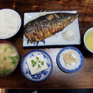 鯖定食(真)