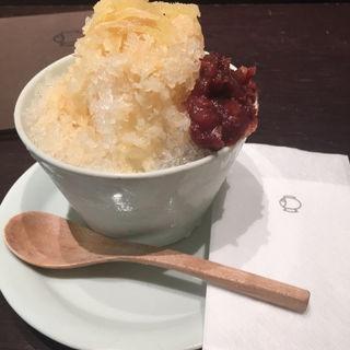 百年水のかき氷(甘酒シロップ)(福光屋 東京ミッドタウン店 (フクミツヤ))