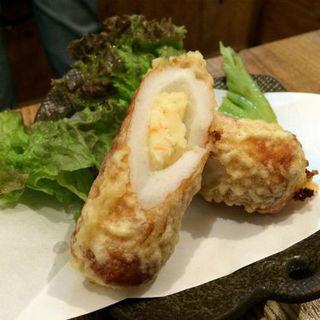ポテト入りちくわの天ぷら(立呑処 ぎん虎)