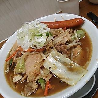 味噌ダレ焼肉麺(白飯付)(竹末食堂 )