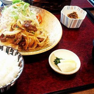 牛焼肉炒めセット(笠庵 (カサアン))