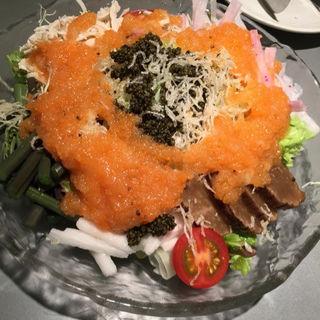 比内鶏と長芋とんぶりサラダ(築地すし鮮 総本店 (つきじ すしせん))