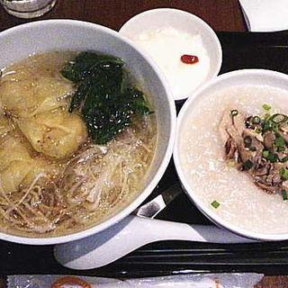 ワンタン麺セット(粥餐庁)