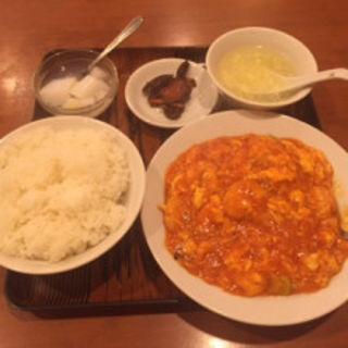 エビと玉子のチリソース煮(美山飯店)