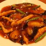 茄子と細切り肉の炒め(美山飯店)