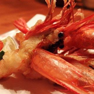 牡丹海老の天麩羅(美食米門品川港南 Wine&Grill )