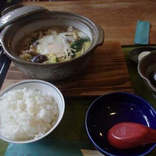 地鶏すき焼き定食(翠峰荘 )