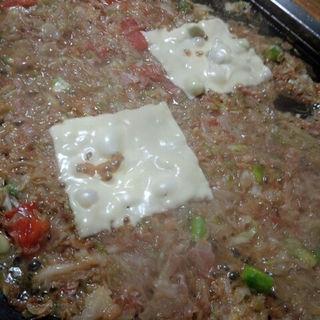 もんじゃ(アスパラとトマト、ベーコンにチーズ)(耕 )