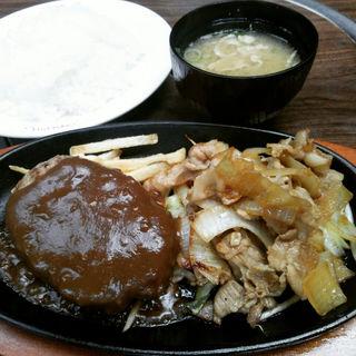 ハンバーグ&生姜焼きランチ(肉の万世 本店 )