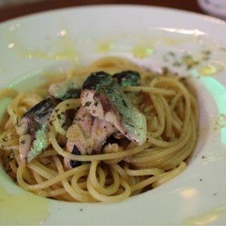 秋刀魚のペペロンチーノ
