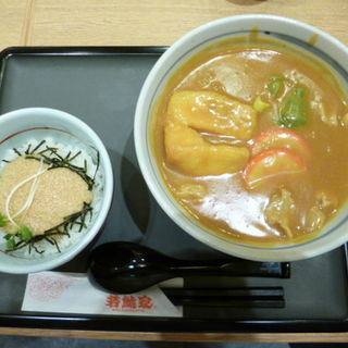 Aカレーランチ(カレーうどん・ミニとろろ丼)(若鯱家DELI+ マークイズみなとみらい店)