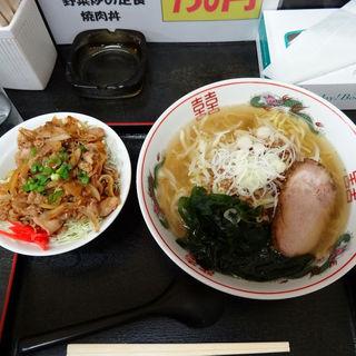 Dセット(塩らーめん+ミニ焼肉丼)(茅橋らーめん )