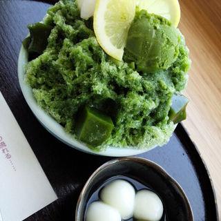 かき氷(貴船しぐれ)(茶寮都路里 大丸東京店 (さりょうつじり))