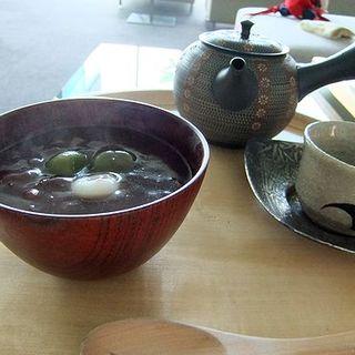 宇治小餅ぜんざいと八女の煎茶(茶房 わらび野)