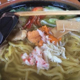 塩味ウニ入り湯麺(荒磯料理 くまのや )
