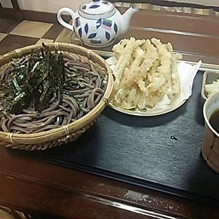 ゴボウ天ザル(大盛り)(蕎麦処 良庵)