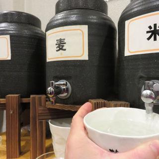 1時間焼酎飲み放題+生ビール1杯(親父の料理)
