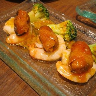 ムール貝と小エビのカクテルソース ガリシアン(虎ノ門バール )
