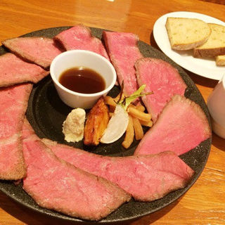 おおひら牛 ローストビーフ定食(裏参道牛肉店 )