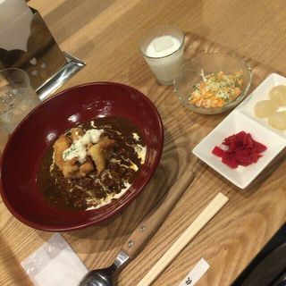 チキン南蛮カレーのちょい盛り(角や )