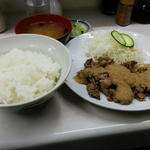 牛バラステーキ定食