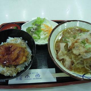 小西の越前おろし蕎麦とヒレカツ丼セット(越前茶屋 小西)