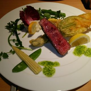 国産牛ロースステーキ ~ブルゴーニュ風~(農家食堂LUONTO(ルオント))