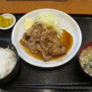 生姜焼き定食(遊のそば)