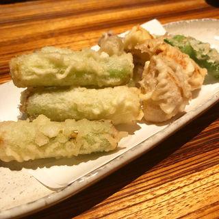 九条葱の天ぷら(高瀬川 くりお )