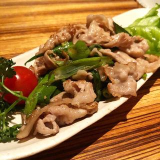 豚バラ肉と葱の炙りバター(高瀬川 くりお )