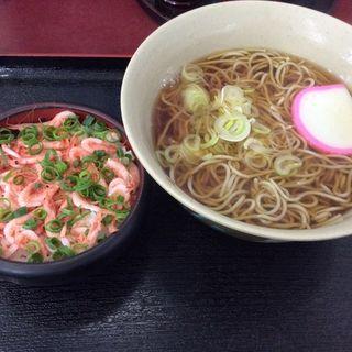 10割かけ蕎麦とミニ釜揚げ桜えび丼