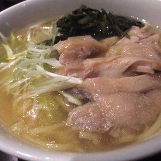 鶏塩雪菜ラーメン(都来 )