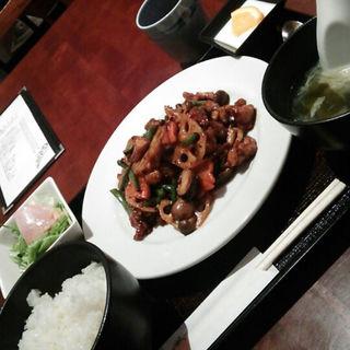 鶏モモ肉の四川豆板醤炒め定食(醤 (JIANG))