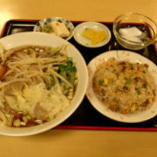 ワンタン麺定食(金麟)