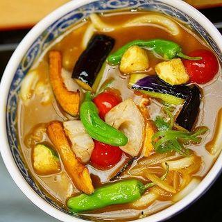 野菜カレーうどん(釜たけ流うどん 駅前食堂 ヨドバシ梅田店 )
